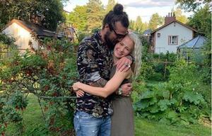 Dani Osvaldo och Veera Kinnunen. Bild: Skärmdump från Instagram.