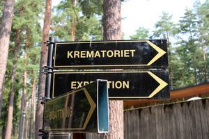 Krematoriet och begravningskapellen i Skogsljus ligger i ett vackert skogsområde i Gävle.