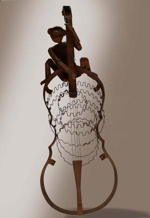 En av Tord Larssons skulpturer som inte  blev antagen,