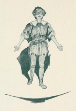 Peter Pan. Illustration av Oliver Herford från 1907.