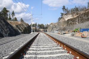 Järnvägsspåren är klara.