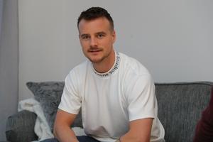 Eric hemma på besök i Gävle.