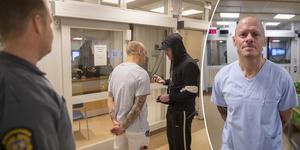 Börje Bakos fick inledningsvis ta hand om den aggressiva mannen som försökte ta sig in på akutmottagningen.