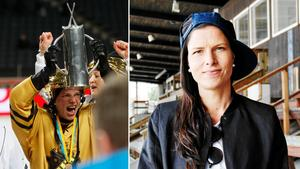 Linda Odén lyfter SM-bucklan efter guldet 2014. På lördag hoppas hon få göra det igen – för åttonde gången. Bild: Rikard Bäckman/Jonna Igeland.