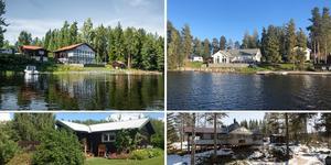 Ett montage med några av de hus som finns med på Klicktoppen för vecka 15, sett till de hus i Dalarna som fått flest klick på bostadssajten Hemnet under förra veckan. Fler bilder finns här nedanför.
