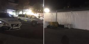Polisen hade stärkt upp med flera patruller vid Stora torget under oktoberfesten.