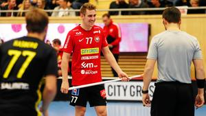 Tobias Gustafsson har gjort 38 poäng, varav 19 mål och lika många assist, under säsongen.