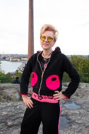 Beate Grimsrud berättar i sin nya roman om en cancerbehandling. Bild: Maud Nycander