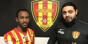 Foto: Syrianska FC.  Den etiopiske innermittfältaren Beneyam Demte ansluter till Syrianska.