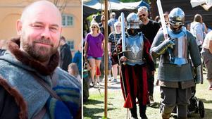 Mikael Thun är vd på Glada Galten, som är ny arrangör till Leksands medeltidsmarknad. Foto: Privat/Montage