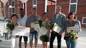 Här finnes alla vinnare Eva-Karin Skoglund, Olov Backlund, Lena Backlund, Hans Ederborg och Villy Lindström (Foto: Postkodlotteriet)