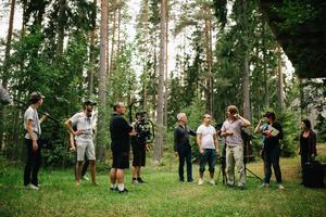 Från inspelningen av We have to go i Kilafors. Bild: Susanna Olsson