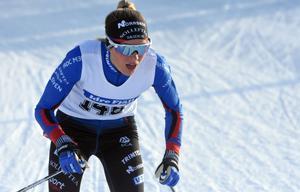 gick ut hårt, men fick lida lite för det och kunde inte hålla samma tempo som Ebba Andersson och Charlotte Kalla på  andra halvan av loppet.