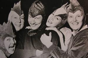 Påskgänget. Birgitta Olsson, Solweig Agnas, Bo Aulin, Lena Agnas och Gunn-Britt Quicker från senaste det begav sig.