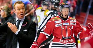 Örebro Hockeys tränare Niklas Eriksson reder ut en del begrepp runt all statistik som numera finns att tillgå som hockeytränare. Statistik ska vara en hjälp, inte något som stjälper ens ledarskap, säger Eriksson. Bild: Johan Bernström/Bildbyrån