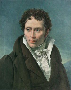 Porträtt av den unge Arthur Schopenhauer. Målning av Ludwig Sigismund Ruhl från 1815.