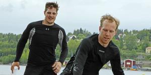 Patrik Karlkvist går in på sin fjärde försäsong med Modo, här från sommarträningen 2017 tillsammans med Tobias Ericsson.