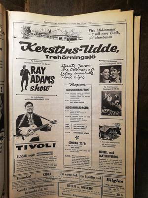 Annons i Örnsköldsviks Allehanda från 1967.
