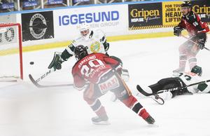 Henrik Marklund sätter dit 1–0 efter en blixtsnabb spelvändning och pass från Joel Källström Englund.