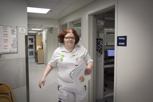 Johanna Persson har arbetat som undersköterska på medicinenheten på Östersunds sjukhus.