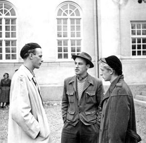 Jan Johansson, som står längst till vänster, flyttade från Söderala till Onsäng när han började på Staffangymnasiet, där han också tog studenten.