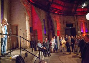 Kalle Zerpe från Skottes Musikteater var kvällens konferencier.