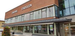 Stadsscenen Estrad i Södertälje. Här kommer vårens filmpremiärer visas och snart kan du köpa din biljett online.