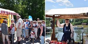 Enligt Rådmansö hembygdsförening blir det allt fler barnfamiljer på Rådmansö. Det syntes tydligt under lördagens marknad.