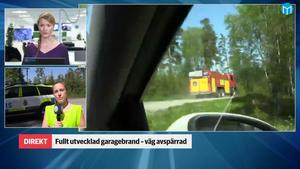 Vid 12.13 larmades räddningstjänsten till Grytavägen med anledning av en brand i ett garage.