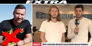David Webb lämnar ÖFK. Sporten analyserade live.