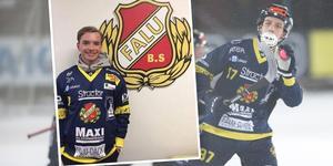 Isac Johansson är klar för Falu BS. Foto: Falu BS Bandys facebook/Rikard Bäckman (arkiv).