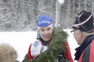 Lovisa Niss från Leksand vann damklassen. Något förvånad eftersom hon först inte insåg att det var hon segrade.