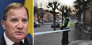 Sveriges statsminister Stefan Löfven (S) meddelar att han tänker på de personer som skadats och deras anhöriga.
