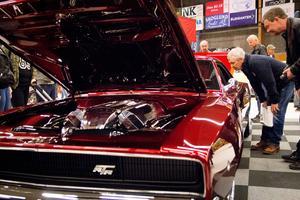 Johan Erikssons berömda Dodge Charger RTR från 1968 visas i Sveg under Härjedalen Expo.