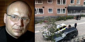 Montage. Bilder: TT/Läsarbild.  Magnus Ranstorp, terrorexpert menar att allmänheten inte har någon anledning att oroa sig.
