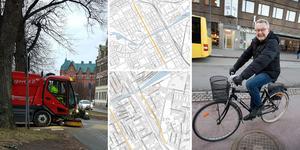 Flera prioriterade cykelvägar sopades under onsdagen, till glädje för många vintercyklister.