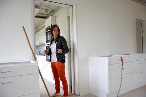 Rebecca Lindberg berättar om tanken med skolveckohemmet, en verksamhet som inte funnits inom Ånge kommun tidigare.