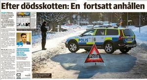 Borlänge Tidning januari 2019. Vittnet är då fortfarande misstänkt.