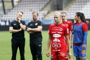 Sara Lilja-Vidlund hängde två mål i landslaget. Arkivfoto