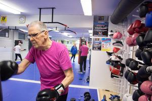 Rune Larsson var orolig att han inte skulle klara av att boxningsträningen. Men efter fyra gånger har tvivlen försvunnit.