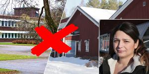 Tvåbarnsmamman Amanda Wikström tycker beslutsfattarna är ute på helt fel spår om man tänker flytta elever från Hagge till centrala Smedjebacken.