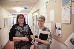 Förvaltningschefen Margareta Karlsson och nämndbasen Åsa Bergkvist (S) konstaterar att budgeten håller och att det till och med kan bli ett litet överskott.