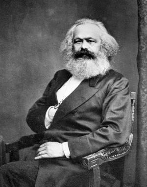Trots sina skarpa iakttagelser av klassamhället har inte Charles Bukowski särskilt mycket övers för Karl Marx. Bilden är tagen omkring 1865. Foto: Roger Viollet