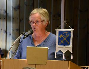 Gunnel Gustafsson (V), var stundtals mycket upprörd i kommunfullmäktige.