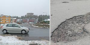 Potthål och allmänt slitna vägar är ett stort problem i Norrtälje, enligt flera personer som kommenterade på NT:s facebooksida under föregående vecka. Foto: Arkiv