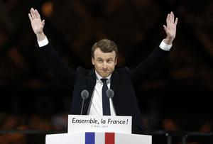 Nyvalde franske presidenten Emmanuel Macron.