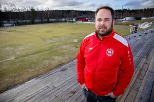 Fredrik Andersson, ordförande Bik Sportklubb på Bondsjöhöjdens IP.