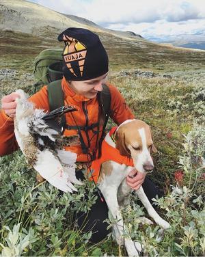 Emma Wesslén är teamest mesta jaktentusiast. Foto: Privat