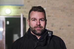 Pär Svärd var övningsledare under rökdykningen.