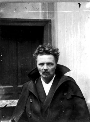 August Strindberg på ett självporträtt från tiden i Berlin, 1893. Foto: TT